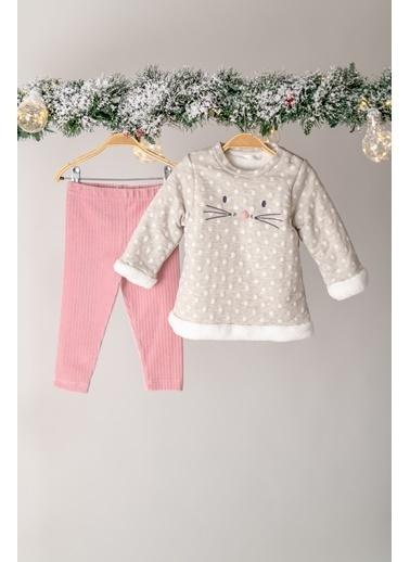 Zeyland ıçi Peluş Sweatshirt ve Pantolon Takım (3-24ay) ıçi Peluş Sweatshirt ve Pantolon Takım (3-24ay) Ekru